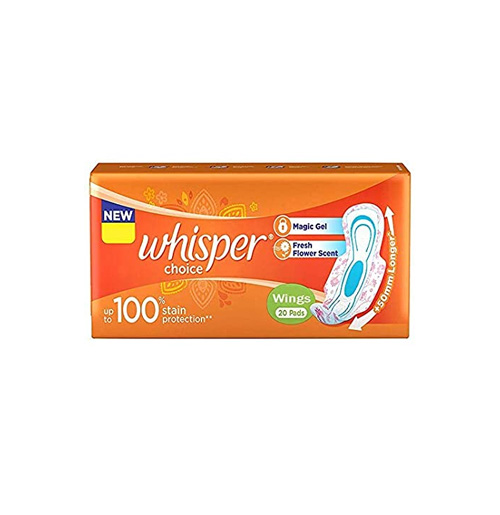 Whisper Sanitary Pads Choice Wings